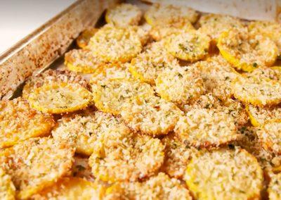 Parmesan Squash Chips