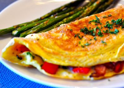 Red and Yellow Bell Pepper Omelet